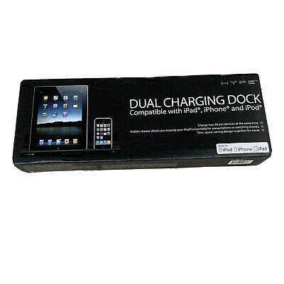 £10.81 • Buy HYPE DUAL CHARGING DOCK Compatible With IPad IPhone And IPod Charge Two 30 Pin