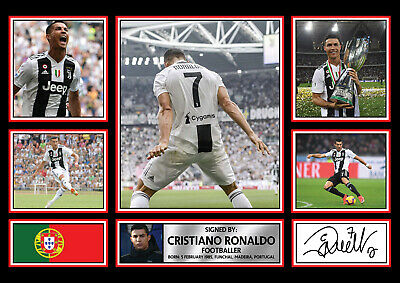 Fathers Day Gift  Cristiano Ronaldo Signed Poster Autographed Print • 28.99£