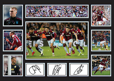 £19.99 • Buy Fathers Day Gift  Aston Villa Players Signed Poster Autographed Print
