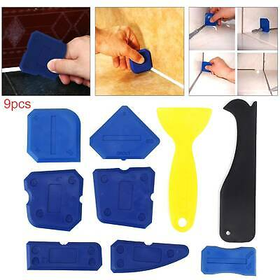 9pcs Silicone Sealant Spreader Profile Applicator Tile Grout Tools New • 4.39£