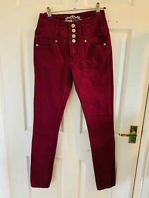Purple New Look Yes Yes Jeans Size 10 (6171) • 7.99£