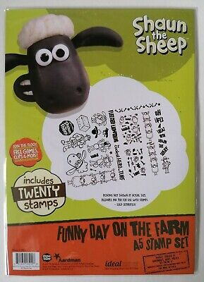 Shaun The Sheep A5 Stamp Set 'Funny Day On The Farm' New • 9.95£
