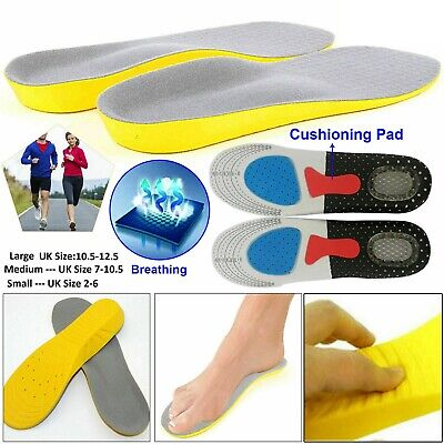 Orthotic Insoles For Arch Support Plantar Fasciitis Flat Feet Back & Heel Pain • 3.35£