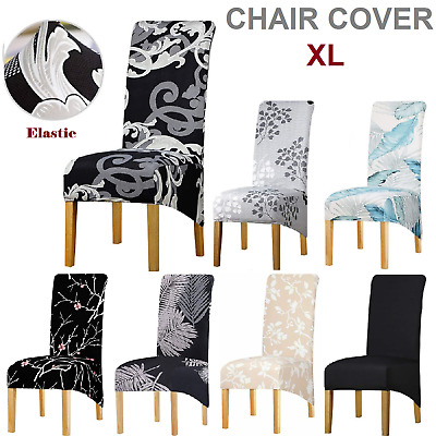 AU39.99 • Buy Dining Chair Covers Removable 4/6pcs Large Size Chair Slipcovers Party Wedding