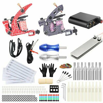 305Pcs Pro Complete Tattoo Machines Kit Power Supply Starter Set For Beginners • 32.99£