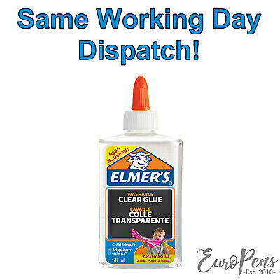 AU12.65 • Buy Elmers Clear Liquid PVA Glue, Washable - Great For Slime Making! - 147ml