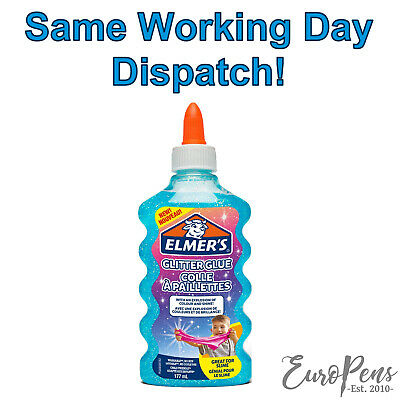 AU12.65 • Buy Elmers Glitter Glue Blue Liquid PVA  Washable - Great For Slime! - 177ml