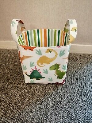 Large Fabric Storage Basket With Colourful Dinosaurs • 22£