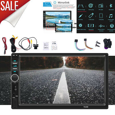 $70.99 • Buy 7  Double 2 DIN Car MP5 Player Bluetooth Touch Screen Stereo Radio With Camera
