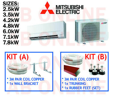 AU994 • Buy Mitsubishi Electric Split System Inverter Reverse Cycle Air Conditioning Aircon