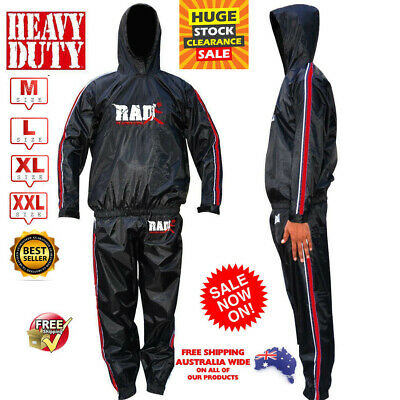AU33.89 • Buy Best Sauna TRACK Sweat Suit For FIGHT WEIGHT LOSS Men Women MMA BOXING Body SHAP