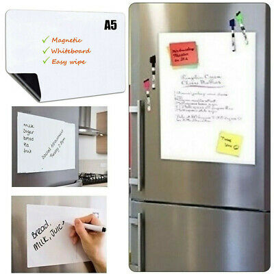 21x15cm Fridge Notice A5 Board Magnetic Memo WeeklyFamily Planner Whiteboard Aid • 3.47£