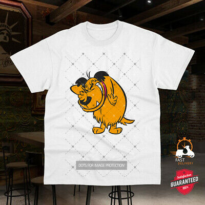 Muttley Dog Tee Smile Mumbly Wacky Races Funny Cartoon Men Unisex T-shirt 0226 • 6.99£