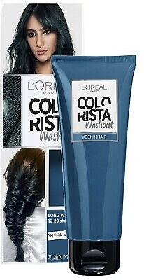 L'Oreal Paris Colorista Washout Denim 19 Blue Semi-Permanent Hair Dye 80ml New • 5.99£