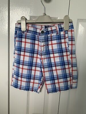 Boys Mayoral Blue & Red Checked Shorts Age 6 Years • 6£