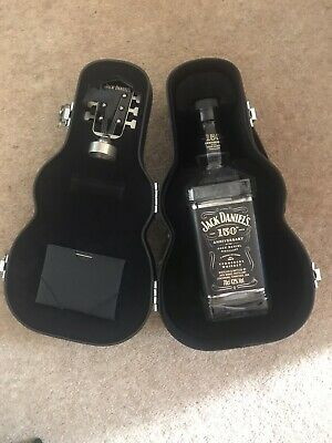 Jack Daniels Guitar Case Bottle Holder With Rare 150th Anniversary Bottle (empty • 50£