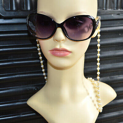 £7 • Buy Eyeglasses Glasses Sunglasses Holder Necklace Chain Pearl Cord String Strap Gold