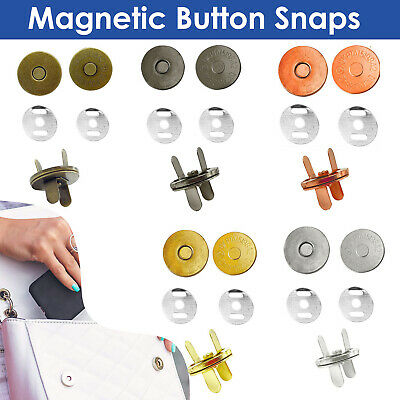 14mm/18mm Round Magnetic Snap Fasteners Washers Clasps For Leathercraft Handbags • 1.85£