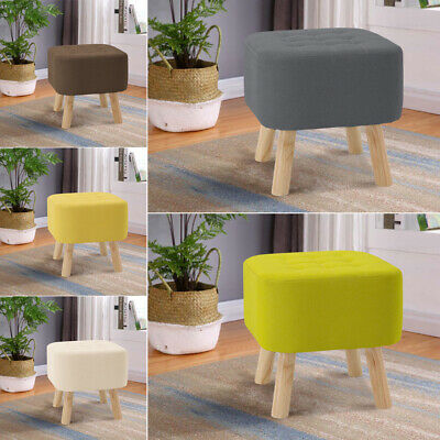 Fabric Stool Bench Padded Pouffe Footstool Footrest Hallway Bedroom Chair Seat • 31.95£
