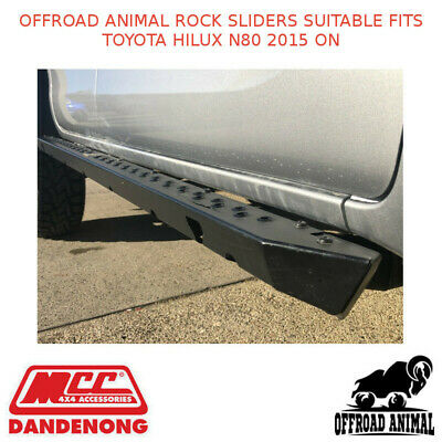 AU1380 • Buy Offroad Animal Rock Sliders Suitable For Toyota Hilux N80 2015 On