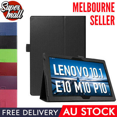 AU12.69 • Buy Leather Flip Folding Stand Case Cover For Lenovo Tab E10 M10 P10 10.1  Tablet