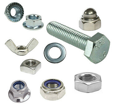 £7.32 • Buy M10 Set Screws Stainless Steel Full Thread Bolts With Nuts And Washers