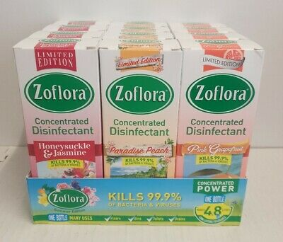 12 X 120ml ZOFLORA MIXED PACK CLEANER LIMITED EDITION  (1.62 Each Delivered ) • 19.49£