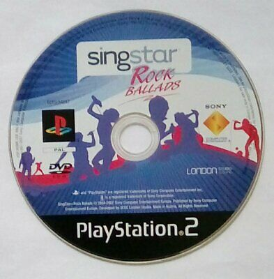 *DISK ONLY* SingStar Rocks Ballads Sing Star Playstation 2 Two PS2 PSTwo PS • 14.95£