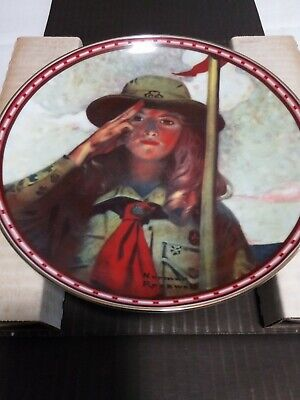 $ CDN15.78 • Buy Norman Rockwell - On My Honor - Collector Plate With COA AND BOX
