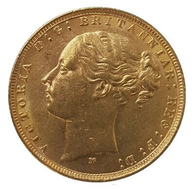 £499 • Buy 1879 Queen Victoria Young Head Gold Sovereign (Melbourne)