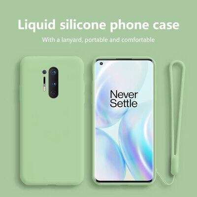 AU4.80 • Buy For OnePlus 8 Pro 7T 7 6T 6 5T 5 Liquid Silicone With Hand Strap Soft Case Cover