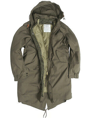 $131.14 • Buy Mil-Tec US Army Olive Drab M51 Fishtail Winter Shell Hooded Parka With Liner