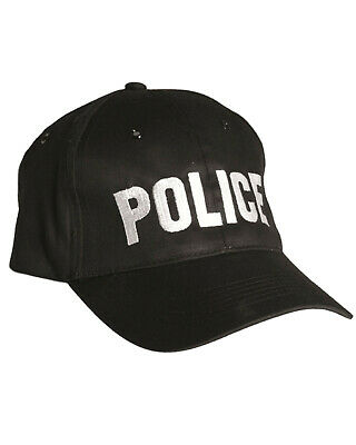 £8.99 • Buy Police Black Baseball Cap Special Agent Tactical Hat 100% Cotton One Size