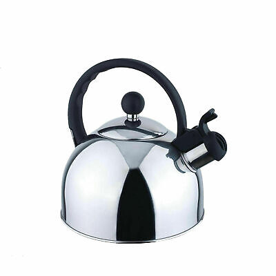 Sunnex Whistling Kettle 1.75 Ltr/Stainless Steel Polished Stove Top/Gas/Electric • 9.99£