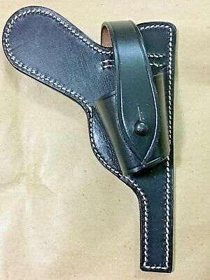 Wwii German Luger P08 Paratrooper Open Black Leather Holster • 21.04£
