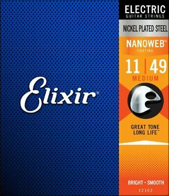 $ CDN16.25 • Buy Elixir 12102 NANOWEB Coated Nickel Plated Medium Electric Guitar Strings