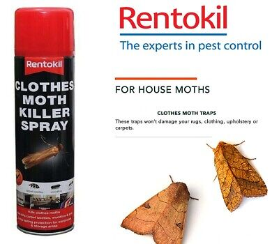Rentokil Clothes Moth Killer Spray, Cockroaches, Woodlice, Carpet Beetles • 8.69£