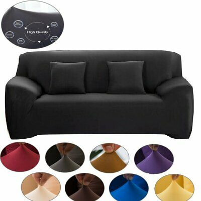 AU26.59 • Buy Sofa Cover 1/2/3/4 Seat Couch Cover Seater Slip Couch Stretch Elastic Fabric