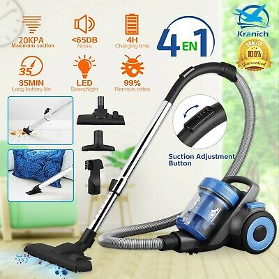 £50.99 • Buy 4IN1 800W Compact Bagless Cylinder Vacuum Cleaner 20Kpa Powerful Cyclonic Vac