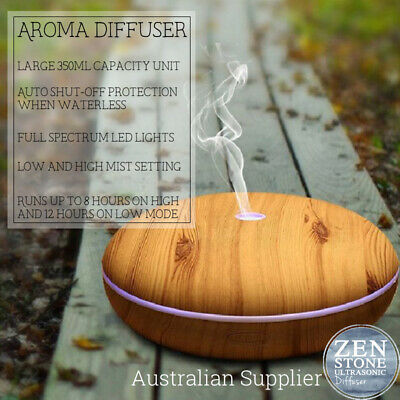 AU21.95 • Buy Ultrasonic Aromatherapy Essential Oil Diffuser 350ml LED Wood Effect Finish