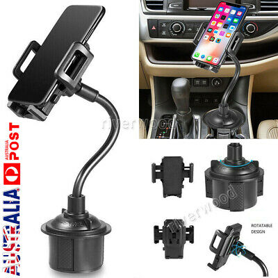 AU19.99 • Buy Universal Car Mount Adjustable Gooseneck Cup Holder Cradle For Cell Phone Iphone