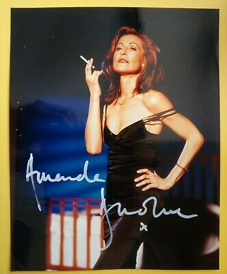 AMANDA DONOHOE Hand Signed 10 X 8 Photo Autograph Actress TV Personality • 19.99£