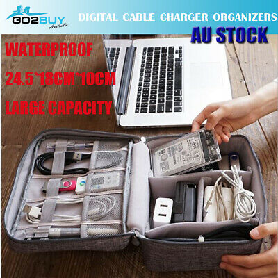 AU12.50 • Buy New Travel Waterproof Storage Organizer Bag Case Digital USB Cable Earphone