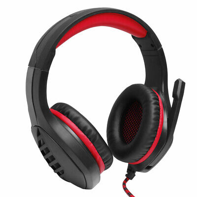Over-ear Headphones Gaming Headset PC Laptop Stereo Headphones With Microphone • 18.29£