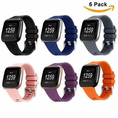 $ CDN9.88 • Buy 6X Fitbit Versa Replacement Strap Soft Silicone Sport Watch Band Smart Bracelet