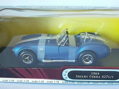 Shelby Cobra 427S/C 1964. Blue. Road Signature Deluxe Edition. 1:18 Scale. MIB • 45£