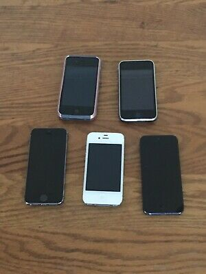 $ CDN236.81 • Buy LOT OF 5 Apple IPhones In Good Shape And Working. 3GS, 4, 4S, 5, 5S. With Extras