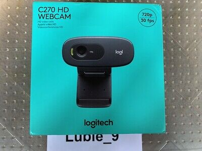 AU50.26 • Buy Logitech C270 HD Webcam Video Conferencing Meeting 720p _BRAND NEW FAST SHIPPING