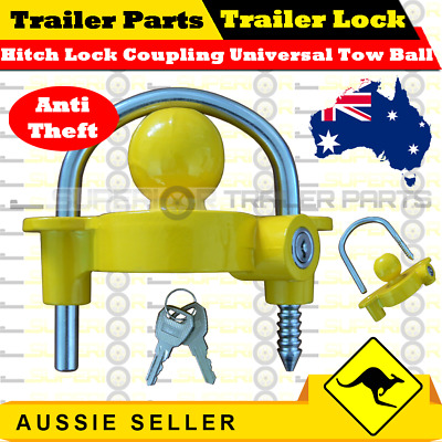 AU25 • Buy Hitch Lock Coupling Universal Tow Ball Caravan Camping Anti Theft (Trailer Lock)