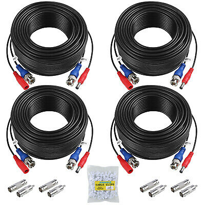 AU17.28 • Buy ANNKE 60FT 100FT BNC Video DC Power Extension Cable Cord For CCTV Camera DVR